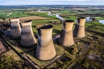 Abandoned Cooling Towers in Derbyshire UK by DesertSurfer