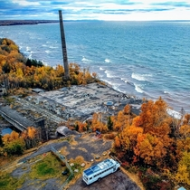 Abandoned Copper Mill Ruins on the Shore of Lake Superior