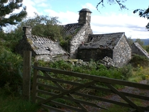 Abandoned Cottage near Betws y-Coed Wales Cliff-