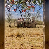 Abandoned cottage out in the sticks in Australia