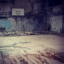 Abandoned Court Pripyat From my visit to Chernobyl exclusion zone