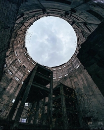 Abandoned cracking tower in Russia
