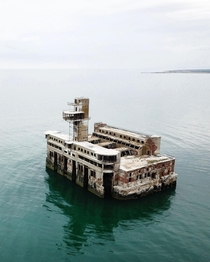Abandoned Dagdizel Plant- a Soviet weapons testing site in Caspian Sea