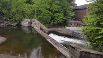 Abandoned dam and factory in Coaticook Quebec