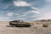 Abandoned Datsun in Coaldale Nevada