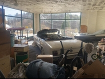 Abandoned dealership with cars left behind