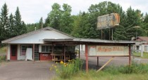 Abandoned dinerdrive-inice cream shop Near Ladysmith Wisconsin