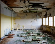 Abandoned Dining Room in a Psychiatric Hospital US