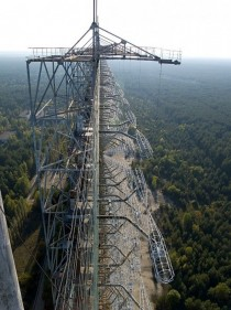 Abandoned Duga- radar array in the Chernobyl Exclusion Zone