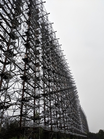 Abandoned Duga radar In Chernobyl exclusion zone