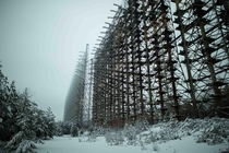 Abandoned Duga radar in Ukraine Built in  it was abandoned in  at the end of the Cold War