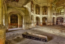 Abandoned Eastern Bloc Church With Coffin  by Christian Richter