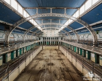 Abandoned Edwardian swimming pool in England