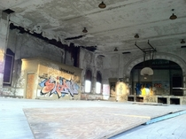 Abandoned elementary school gymnasium in Pittsburgh PA