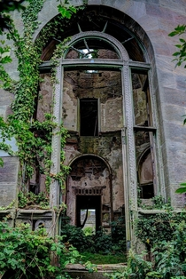 Abandoned Entrance to a Neoclassical Scottish Mansion That Was Built Out of Spite x OC