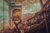 Abandoned European Mansion Spiral Staircase