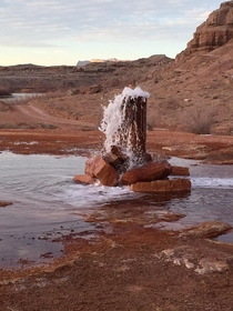Abandoned Exploration Well Oil Mining Gone Wrong in the s Crystal Geyser Utah