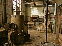 Abandoned factory next to an abandoned psychiatric hospital