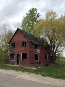 Abandoned Fake Brick Homestead Dalhousie Lake Ontario