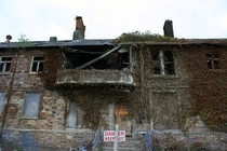 Abandoned famine workhouse in Ireland Later converted into a hospital Closed in