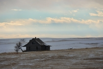 Abandoned farm house on the plains of eastern Colorado