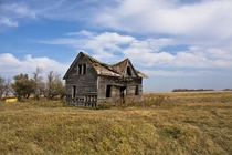 Abandoned farmhouse a mile behind my familys farm in rural Manitoba Canada