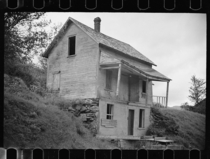 Abandoned farmhouse near Lowell Vermont August  by Carl Mydans