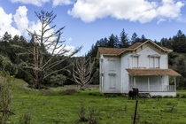 Abandoned farmhouse near Point Reyes National Seashore Marin County CA