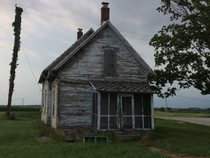 Abandoned farmhouse on US  in southern Michigan