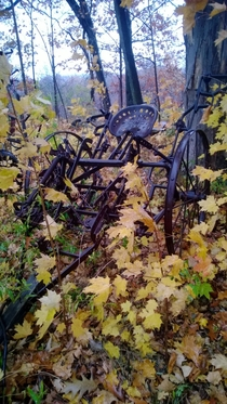 Abandoned farming equipment found outside of Erie Pennsylvania