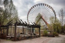 Abandoned Ferris wheel at Spreepark in Berlin