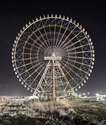 Abandoned Ferris wheel at the Kanuma Leisure Land theme park in Japan