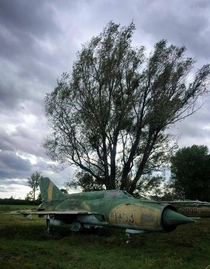 Abandoned fighter sleeping in a Hungarian plane graveyard