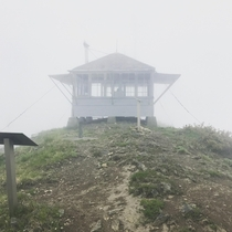 Abandoned Fire Lookout in the Fog Gifford Pinchot WA