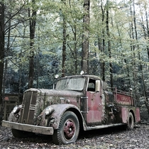 Abandoned fire truck found in the Chattahoochee wilderness north Georgia