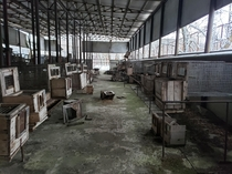 Abandoned fish hatchery near Chernobyl
