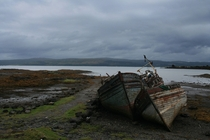 Abandoned Fishing Boats in Scotland