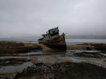 Abandoned fishing vessel CA