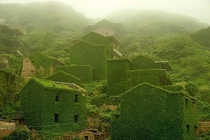 Abandoned fishing village on Goqui Island China that nature reclaimed to itself