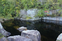 Abandoned flooded stone quarry near Sandstone MN