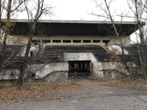 Abandoned football stadium in Pripyat