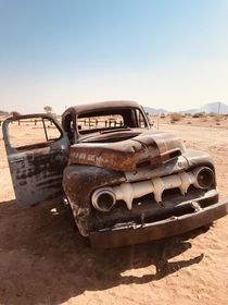 Abandoned Ford in Solitaire Namibia
