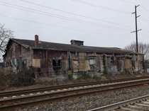 Abandoned freighthouse along the tracks in Auburn WA  Feb  OC x