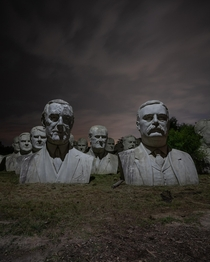 Abandoned ft President Head Monuments