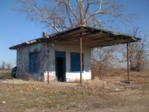 Abandoned Fuel Station off a highway in Missouri   x