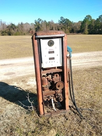 Abandoned gas pump near my father in laws property