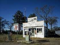 Abandoned gas station in rural North Carolina by Carol Highsmith  rHI_Res link in comments