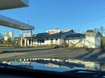 Abandoned gas station in Virginia with motel attached to itposted photo as well
