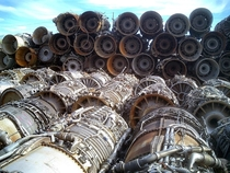 Abandoned GE-J fighter jet engines