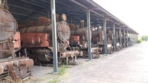 Abandoned German Locomotives in Greece